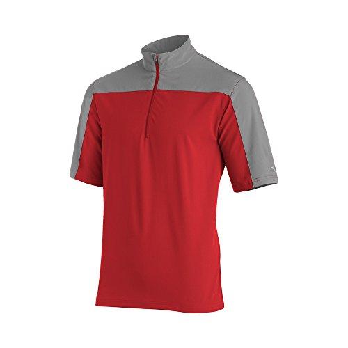 (Mizuno Comp Short sleeve Batting Jacket, Red/Grey, XX-Large)