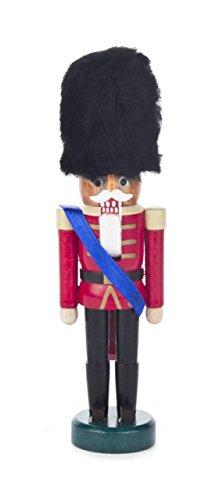 Pinnacle Peak Trading Company British Palace Guard Black Fur Hat Mini German Wood Christmas Nutcracker 6 Inch