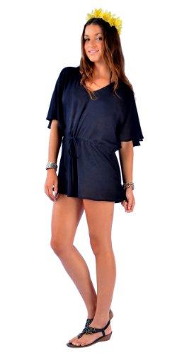 Pour Courte Unie Femmes De Sarongs Couvrante 1 Noire Robe World aUwqBAvg
