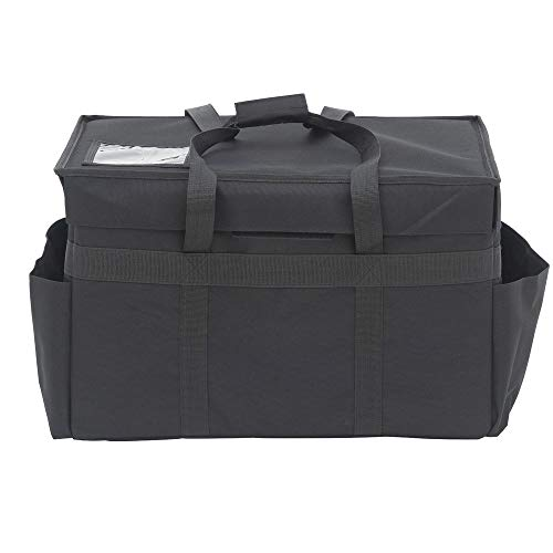 Hubert Black Nylon Large Delivery Bag - 23L x 14W x 14H ()