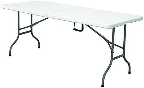 Expand Table Pliante 152cm Blanc Table De Buffet Jardin