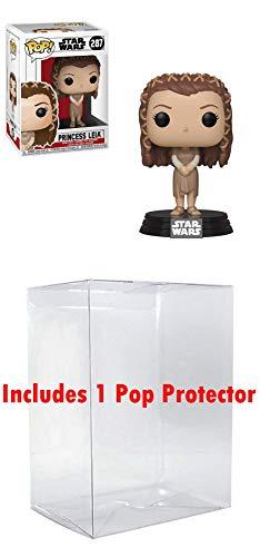 Funko Princess Leia [Ewok Village]: Star Wars x POP! Vinyl Figure & 1 POP! Compatible PET Plastic Graphical Protector Bundle [#287 / 37526 - B] -