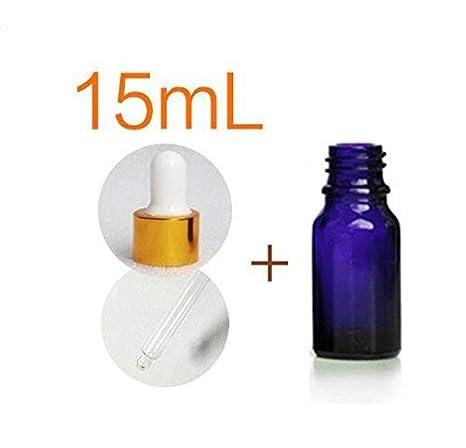 4pcs 5 ml/10ML/15ML/20ML/30ML/50ML/100ML vetro blu vuoto riutilizzabile barattolo flaconcino con vetro occhio contagocce per olio essenziale profumo cosmetici erioctry