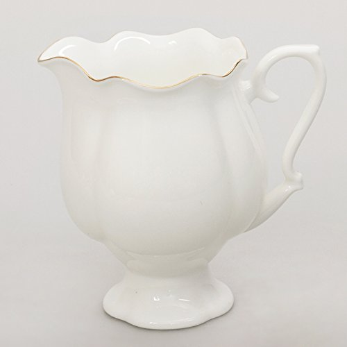 Imperial / Lomonosov Porcelain Cream Jug 'Golden Ribbon'