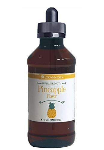 Pineapple Hard Candy Flavoring 4 oz, by LorAnn Oils, with Glass Dropper Bundle