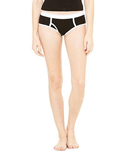 Bella Ladies Logan Boy Brief Underwear-small-Black (Underwear Bella Ladies)