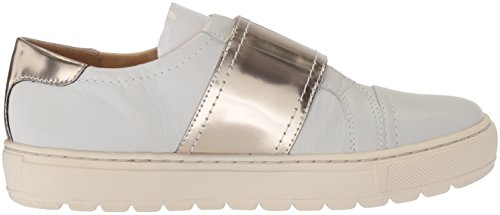 Geox Breeda E, Sneakers Basses Femme Blanc (White/platinum)