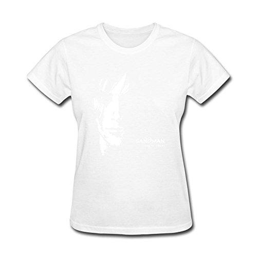 Tommery Women's Sandman Design Short Sleeve Cotton T Shirt