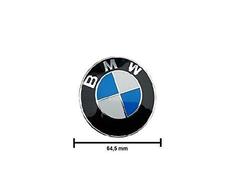 BMW Lot de 4 cache-moyeux pour moyeux avec bord chromé Grand format