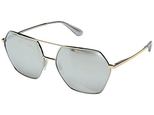 Dolce & Gabbana Women's DG2157 Silver/Gold/Light Grey Silver Mirror - Dolce Sunglasses Gabbana Mirror And