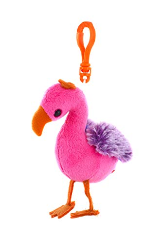 Plushland Adorable Lulu The Pink Flamingo Keychain Plush Stuffed Animal - Custom Toy for Kids, Boys, Girls - Gifts Present for Birthday, Graduation Day, Valentine Day - Back to School - Party Favors]()