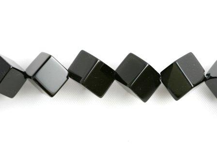 Black Onyx Beads Cube 12mm (1711) (Black Onyx Cube Beads)