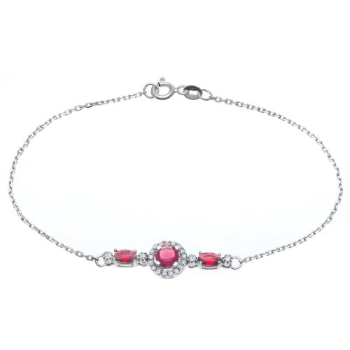 Citerna - SBT 1302 RU - Bracelet Femme - Plaqué Rhodium/Argent 925/1000 1.8 Gr - Imitation pierres précieuses/Oxyde de zirconium