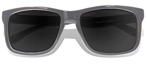adulte Lens Lunettes Grey KZ de soleil Glossy Grey Gradient Frame 7Z7t6xq