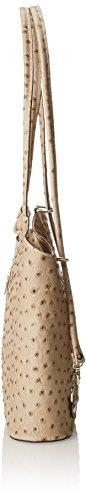 en cuir 100 Gris 28x30x9cm véritable Fabriqué de Sac Italie cuir CTM femmes la d'autruche Fango PqwP0xrAU