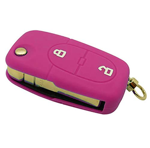 forkey 790012F Key Cover with 2 Buttons Aud204s Fuchsia