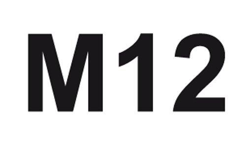 Max-Power COXT675012 Filiera in Acciaio HSS per Filettatura Esterna M12