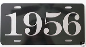 (1956 56 YEAR METAL LICENSE PLATE TAG 6 X 12 FITS FORD CHEVY DODGE CORONET MERCURY BUICK STUDEBAKER CADILLAC T BIRD GASSER HOT Rod Muscle CAR Classic Museum Collection Novelty Gift Sign GARAGE MAN CAVE)