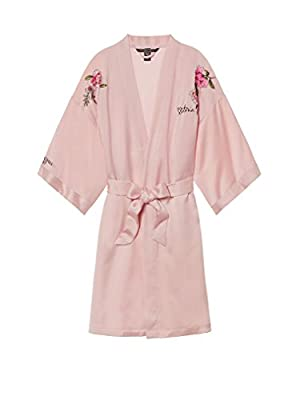 Victoria's Secret Fashion Show Shanghai 2017 Satin Embroidered Kimono Robe Millennial Pink