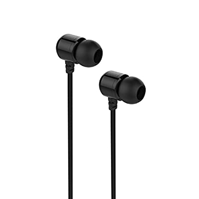 Earphones,M1000 Okun Stereo in-ear Headphone Headset Earphone ,High Definition,Tangle Free, Noise Isolating, HEAVY DEEP BASS for iPhones, iPads,Android, LG, PC Laptop, and More-Piano Black