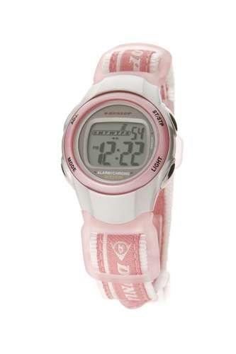 Dunlop DUN-25-M05 - Reloj de mujer con correa textil rosa - sumergible