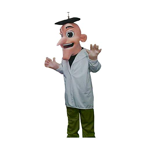 Dr. Heinz from Phineas and Ferb Mascot Costume Character Cosplay Nude