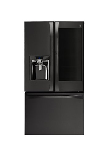 Kenmore French Refrigerator with 29.6 cu. ft, Black Stainless Steel