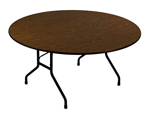 Correll CF60MR 01 Melamine Fixed Height Top Folding Table, Round, 60