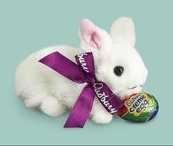Cadbury Creme Egg Clucking Plush Easter Bunny