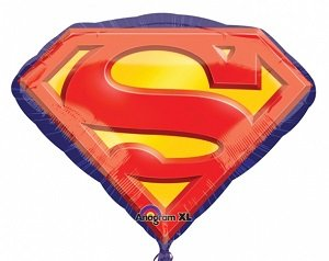 26'' Superman Emblem Foil Balloon by -