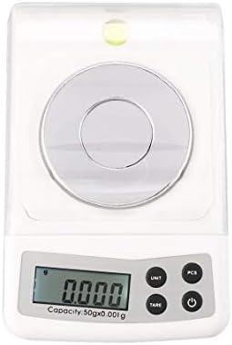 Mini Báscula Digital de Bolsillo 50Kg 0.001g Precisión g/ozt/dwt/ct/oz/gn para Cocina Joyería Farmacia Tara Pesaje Peso Medida