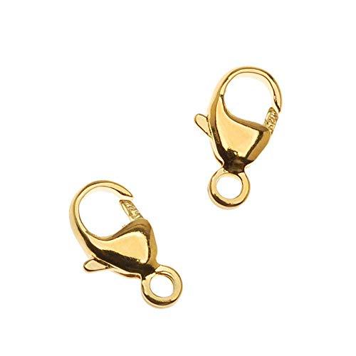 (Beadaholique 22K Gold Vermeil Lobster Clasps 9.5mm, 2)