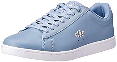 Lacoste Carnaby EVO 119 1 Fashion Shoes, LT BLU/WHT, 5 US