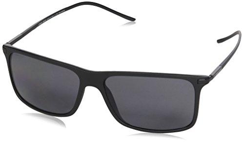 Giorgio Armani Mens Sunglasses (AR8034) Black Matte/Grey Plastic,Nylon - Polarized - 57mm