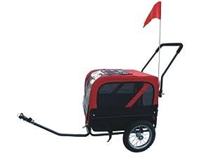 MDOG2 MK1484 Comfy Pet Bike Trailer/Jogging Stroller, Small, Red/Black