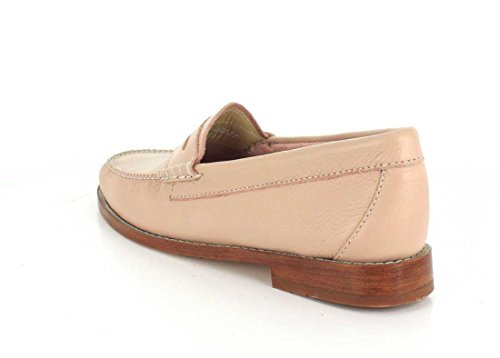 Gh Bass & Co. Womens Whitney Penny Loafer Blush Rosa Soffice Pelle Martellata