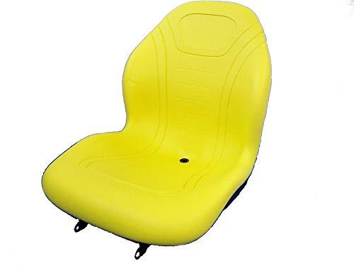 MILSCO Yellow HIGH Back SEAT John Deere 670,770,790,870,970,990,1070,3005,Tractor #FT
