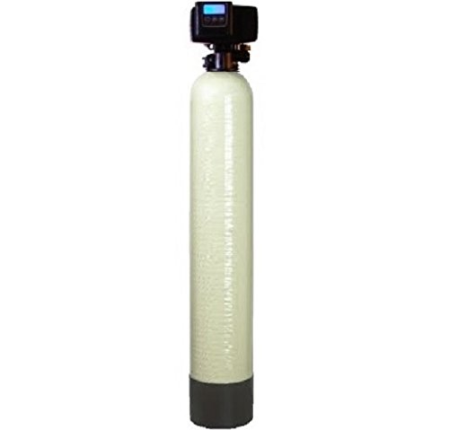 DuraWater silver Fleck 5600 SXT Air Injection Iron Filter Removes High Smell & Iron Chemical Free 10x40 Inches Almond