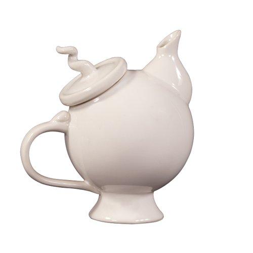 glossy white teapot - 9