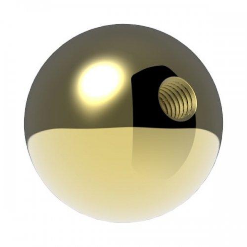 Messingkugel massiv /ø 35mm spezialbeschichtet f/ür Innen mit M6 Gewinde und Au/ßenbereich