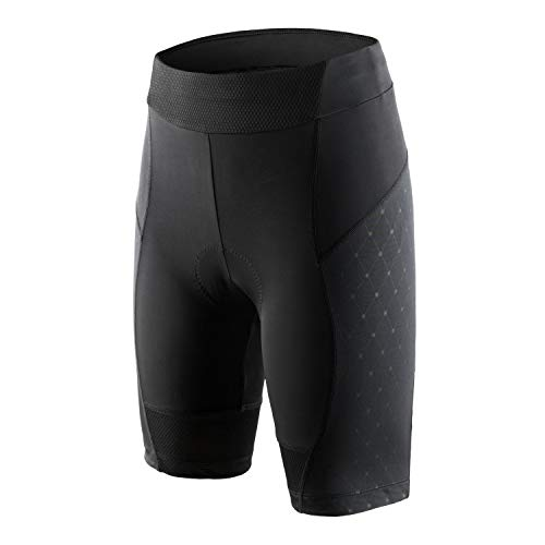 beroy Bike Shorts Women with Padding Ride Biking Cycling Compression Shorts with 3D Gel Padded(Gblack,S)