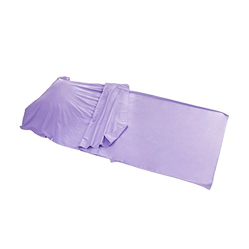 "Outry Travel and Camping Sheet, Sleeping Bag Liner/Inner, Lightweight Summer Sleeping Bag - Purple (Material: 100% Cotton) - S£º31.5""x82.7""/80cmx210cm"