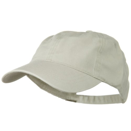 Otto Caps Washed Solid Pigment Dyed Cotton Twill Brass Buckle Cap - Stone - Caps Twill Otto Cotton