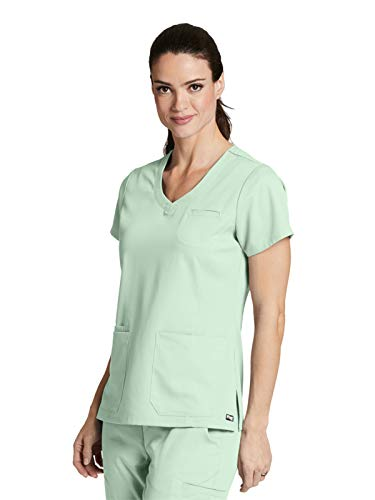 Womens Pistachio - Grey's Anatomy 41460 Stylized Princess V-Neck Pistachio M