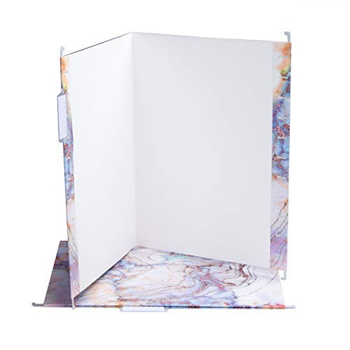 Fei Bi Hanging File Folders- Letter Size-with 1/5-Cut Adjustable Tabs 3 Different Designs Marbling 12pcs Set-Assorted Durable Refined