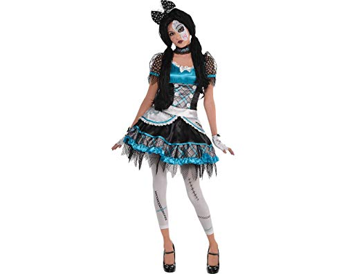 AMSCAN Shattered Doll Halloween Costume for Teen Girls, Large, with Included Accessories