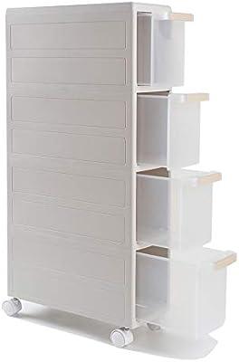LYNNSNG Mueble De Almacenamiento Con Ruedas,Extraíbles De Plástico ...