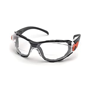 Elvex Go-Specs EVA Foam Lined RX Bifocals, Anti-Fog, PC LENS, Splash, Impact Spectacle/Goggle +2.5 Diopters, Clear by Elvex