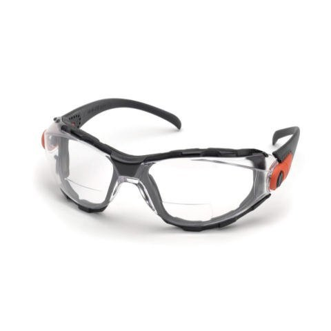Elvex Go-Specs EVA Foam Lined RX Bifocals, Anti-Fog, PC LENS, Splash, Impact Spectacle/Goggle +2.5 Diopters, Clear by - Spectacle Lens Rx