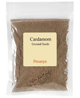 Cardamom #6 Ground Seeds By Penzeys Spices 3.6 oz 3/4 cup bag (Crushed Cardamom Pods)